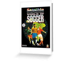 Sensible World of Soccer Greeting Card