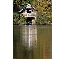 Boat House and its reflection Photographic Print