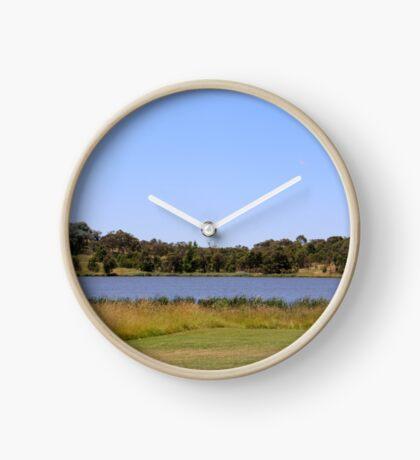 Cut By The Lake Clock