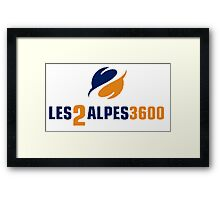 les 2 alpes Framed Print