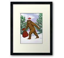 Bigfoot Santa Framed Print