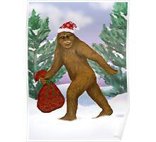 Bigfoot Santa Poster