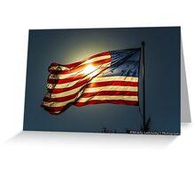 Sun & American Flag (2) Greeting Card