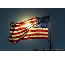 Sun & American Flag (2) Photographic Print