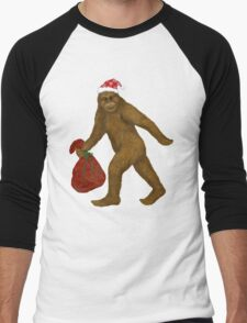 Bigfoot Santa Men's Baseball ¾ T-Shirt