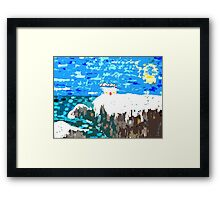 WINTER COAST Framed Print