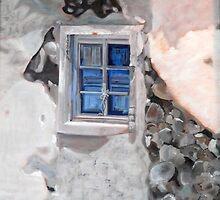Blue Shutters by Lynn Ahern Mitchell