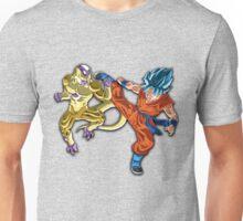 Super Saiyan Blue (SSB) Goku vs. Golden Frieza (Freeza) Unisex T-Shirt