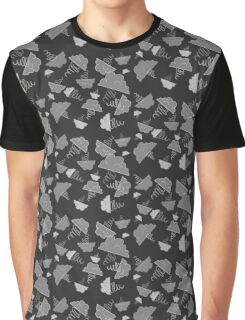 Hand-Drawn Clouds & Tornadoes (Storm Gray) Graphic T-Shirt