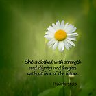 She is Clothed With Strenght by Kathy Weaver