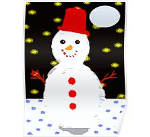 SMILING SNOWMAN Poster