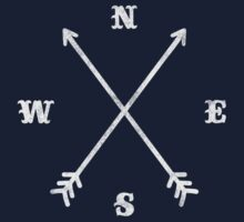 Hipster Crossed Arrows - Compass (NSEW) Kids Clothes