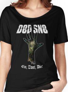 Dead Snow / Død Snø / Zombie (BLACK) Women's Relaxed Fit T-Shirt