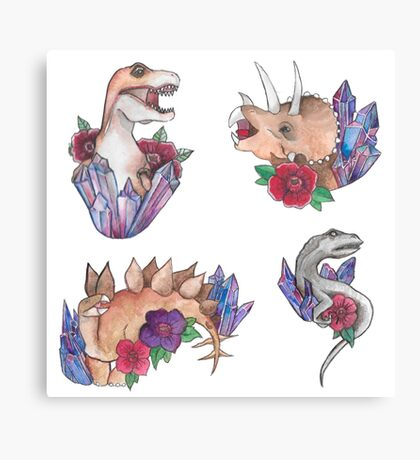 Dino page Canvas Print