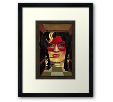 Amy Winehouse as Portrait of Mae West by Salvador Dalí Framed Print