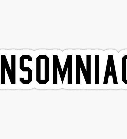 """""""Insomniac"""" Graphic Sticker"""