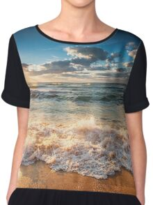 Ocean Sunset Chiffon Top