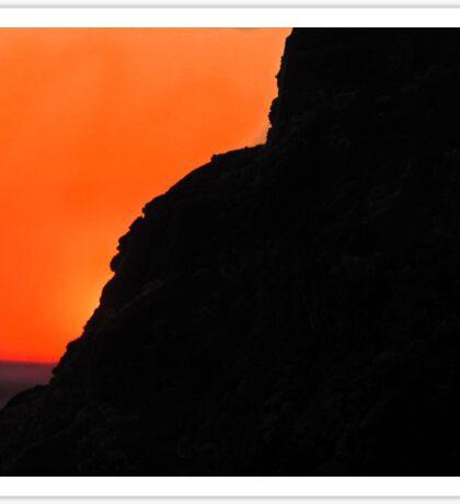 Sunset at the California Cliffs Sticker