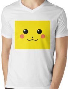 pika smile Mens V-Neck T-Shirt