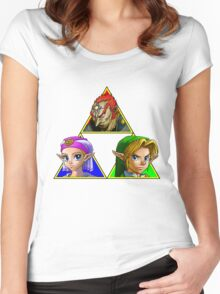 Ocarina of Triforce Women's Fitted Scoop T-Shirt