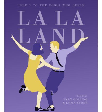La La Land film poster Sticker