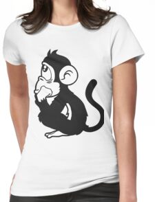 monkey Womens Fitted T-Shirt