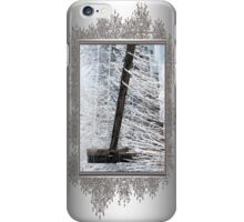 Hoar Frost on the Fence iPhone Case/Skin