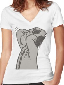 im crazy Women's Fitted V-Neck T-Shirt