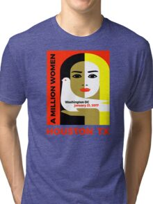 Women's March on Houston, Texas January 21, 2017 Tri-blend T-Shirt