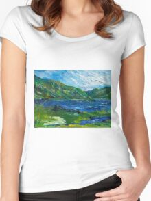 White water in Kenmare  Kerry Women's Fitted Scoop T-Shirt