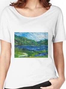 White water in Kenmare  Kerry Women's Relaxed Fit T-Shirt