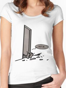 help me Women's Fitted Scoop T-Shirt