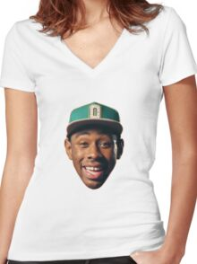 tyler the creator Women's Fitted V-Neck T-Shirt