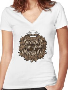 Bearded for Your Pleasure Women's Fitted V-Neck T-Shirt