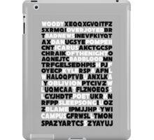 Bastille crossword. iPad Case/Skin