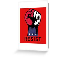 Say NO to Political Corruption in the USA Fight Resistance  Greeting Card