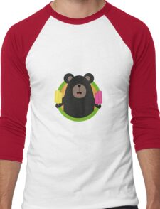 Grizzly with two Popsicle Men's Baseball ¾ T-Shirt