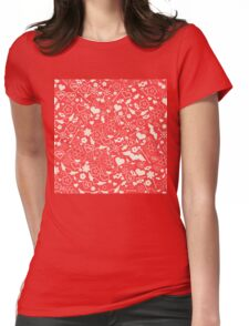 Valentine's Day Seamless Pattern. Background for decoration Womens Fitted T-Shirt