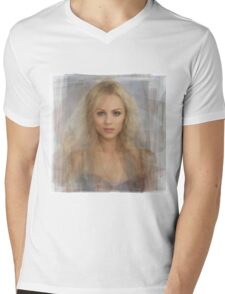 Laura Vandervoort Portrait Mens V-Neck T-Shirt