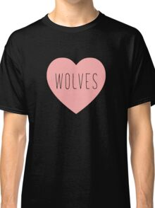 I Love Wolves Heart | Wolf Print Classic T-Shirt