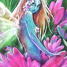 Pink Daisy, Blue fairy by Robin Pushe'e