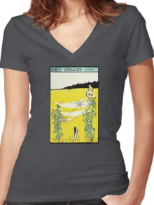 Cobwebs Women's Fitted V-Neck T-Shirt