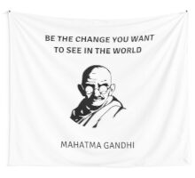 GANDHI QUOTE Wall Tapestry