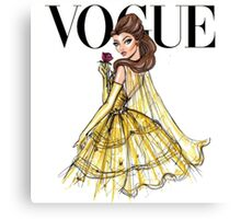 Disney's Beauty and the Beast | Belle | Vogue Artwork Canvas Print