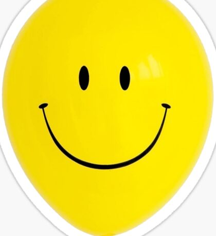 Happy Face Balloon All Smiles Sticker