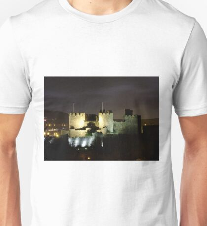 Conwy Castle at night Unisex T-Shirt