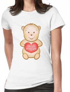Valentine's Day I love you beary much Womens Fitted T-Shirt