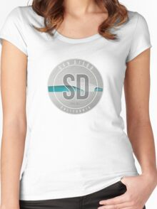 San Diego Surf Art - California Women's Fitted Scoop T-Shirt