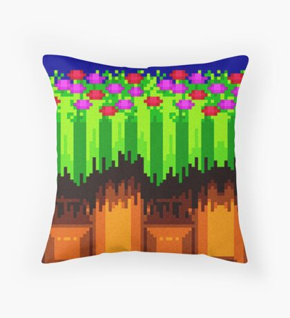Sonic Emerald Hill Stage Throw Pillow