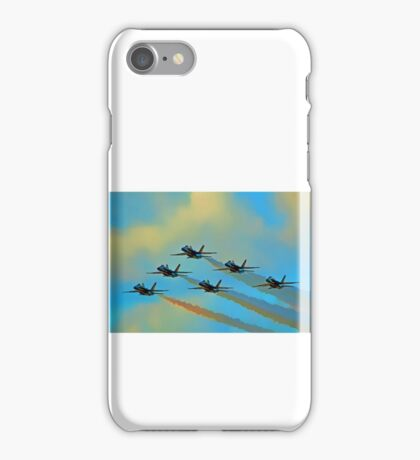 Beautiful Blue Angels Art iPhone Case/Skin